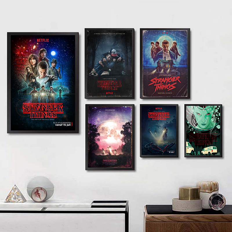 Stranger Things Season Movie Posters Wall Stickers White Coated Paper Prints Home Decoration Home Art Brand Buy 3 Get 4
