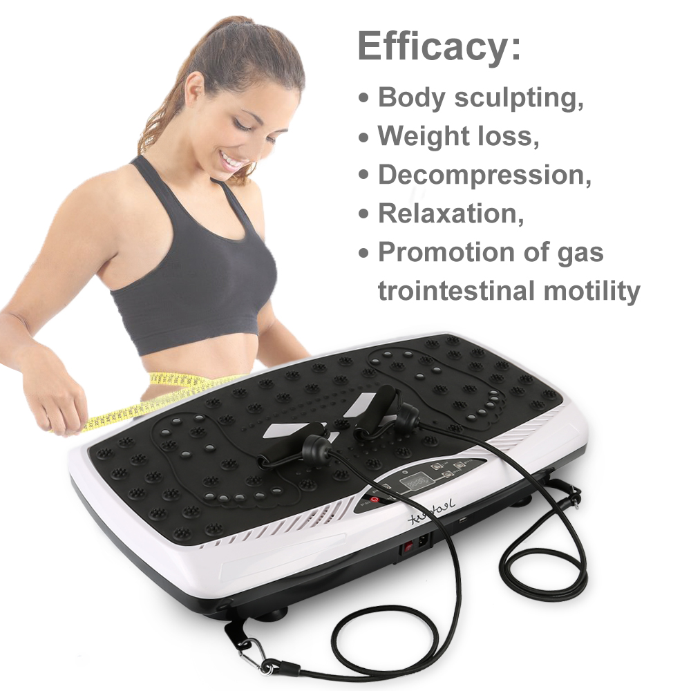 Crazy Exercise Fit Massage Vibration Platform Slim Fitness Equipment Full Body Fitness Massage Equipment EU Plug Dropship HWC