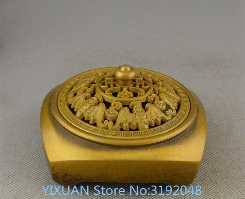 TNUKK античная бронза латунные украшения подарки фэн шуй медный для благовоний курильница благовония Будды площади.