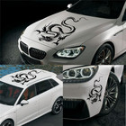 Car Hood Body Vinyl Graphic Wrap Decal Dragon Sticker on Car Racing Sport Reflect Vinyl Decal Personality Waterproof Accessories