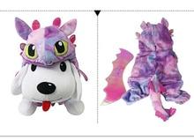 Купить с кэшбэком New flying dragon Halloween dog clothing cat dog clothing warm fleece dog clothes cute jumpsuit four legs pet cool pet clothing