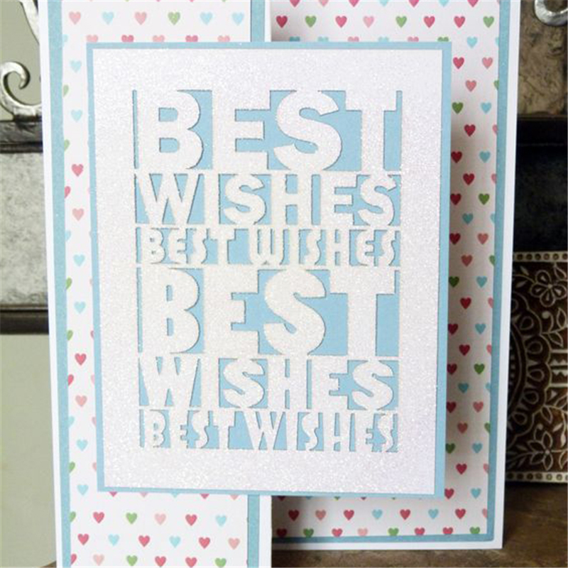 Naifumodo Best Wish Letters Metal Cutting Dies New 2019 for Dies Scrapbooking Card Decor Craft Dies Embossing Peper Die Cut in Cutting Dies from Home Garden