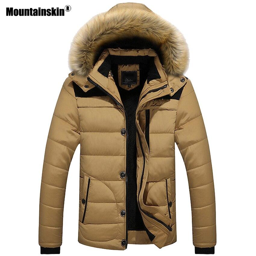 Mountainskin New Winter Men's Coats Male Parkas Casual Thick Outwear Fleece Jackets Warm Overcoats Mens Brand Clothing 6XL SA546