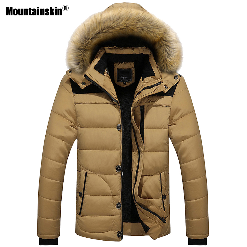 Mountainskin New Winter Men's Coats Male   Parkas   Casual Thick Outwear Fleece Jackets Warm Overcoats Mens Brand Clothing 6XL SA546