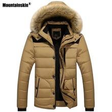 Mountainskin новые зимние Для мужчин пальто мужские парки Повседневное утепленная верхняя одежда флисовые куртки теплые пальто Для мужчин s брендовая одежда 6XL SA546