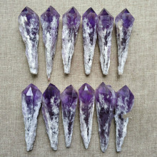 Natural amethyst original stone ornaments scepter backbone crystal ore wool specimens healing energy