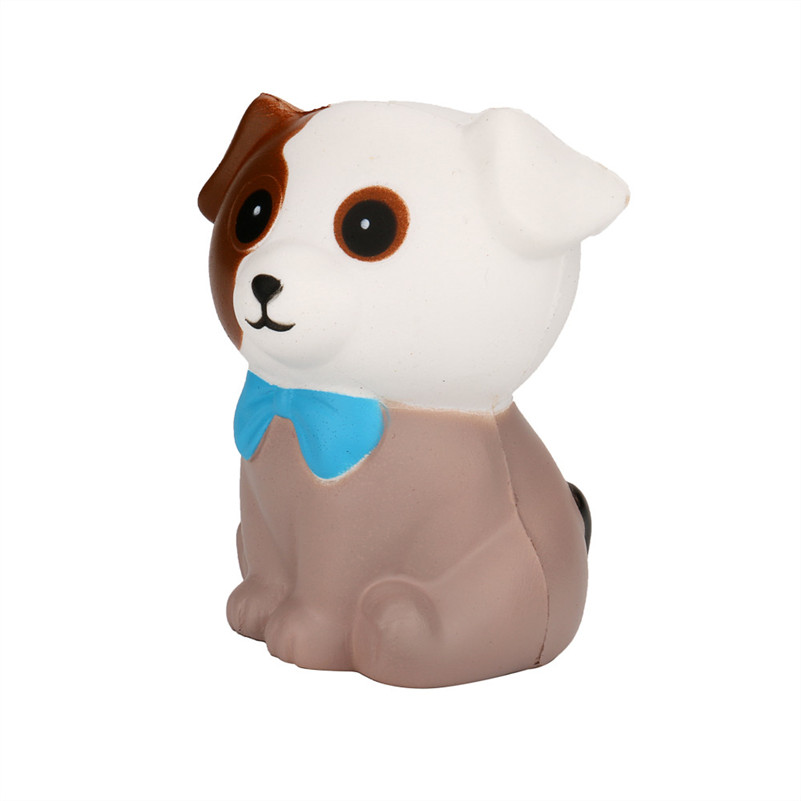 1pc Squeeze Spotted Dog Cream Bread Scented Slow Rising Toys Phone Charm Gifts Squeeze Jumbo Squishies Toy For Kids A1