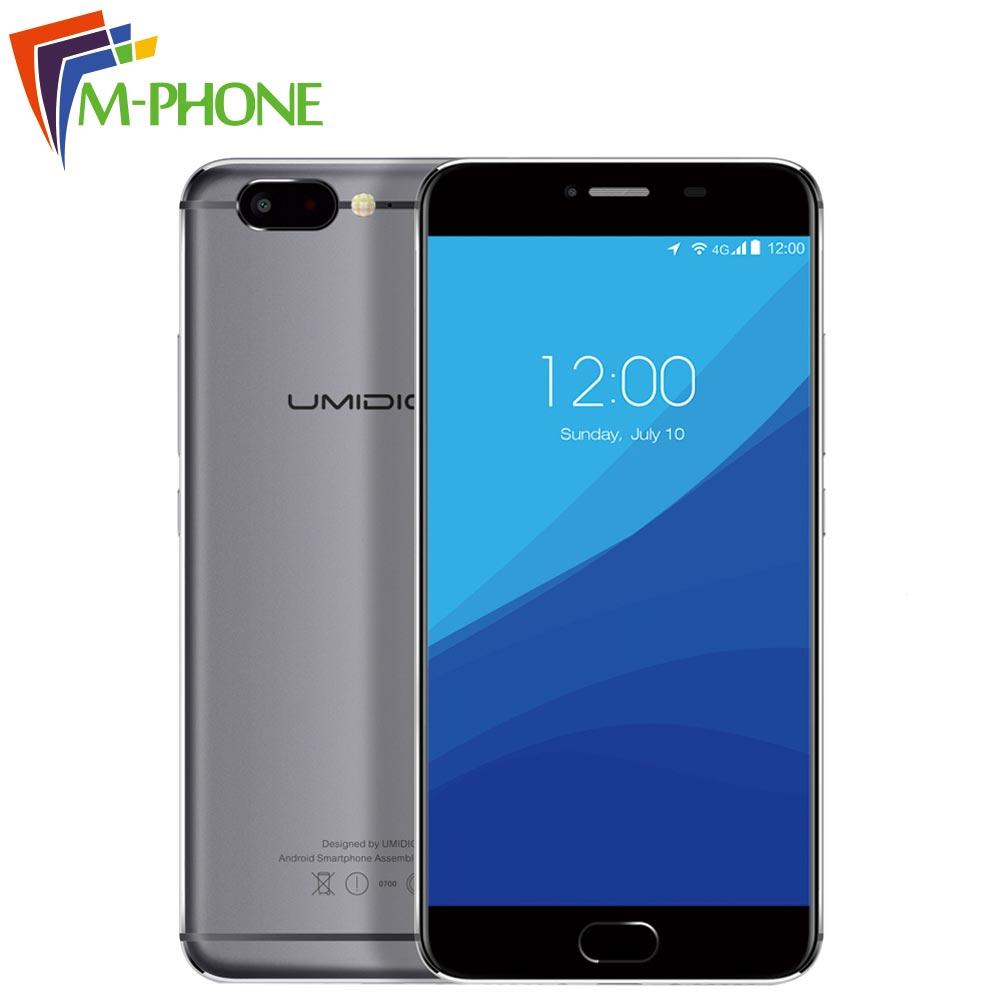 Original UMIDIGI Z Mobile Phone 5 5 inch 4G Android 6 0 MTK Helio X27 Deca