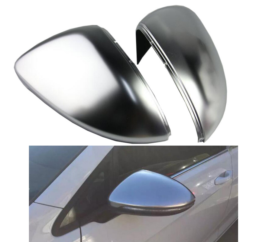 Car Rearview Mirror Sport Golf R GTI Chrome Rearview outside aluminum Satin finish Mirror Cover shell For Golf 7 MK7 VII 2014+ side wing rearview mirror cover trim protector chrome decor car styling for vw volkswagen golf 7 mk7 r gti 2014 2017 accessories