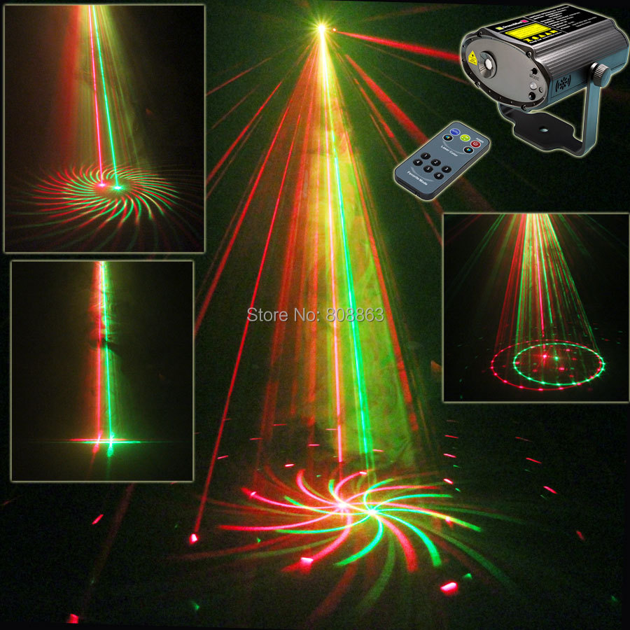 Mini R&G Laser Big 12 Patterns Projector Dance Disco Bar Family Party Xmas Stage Lights DJ environment lighting Light Show T21