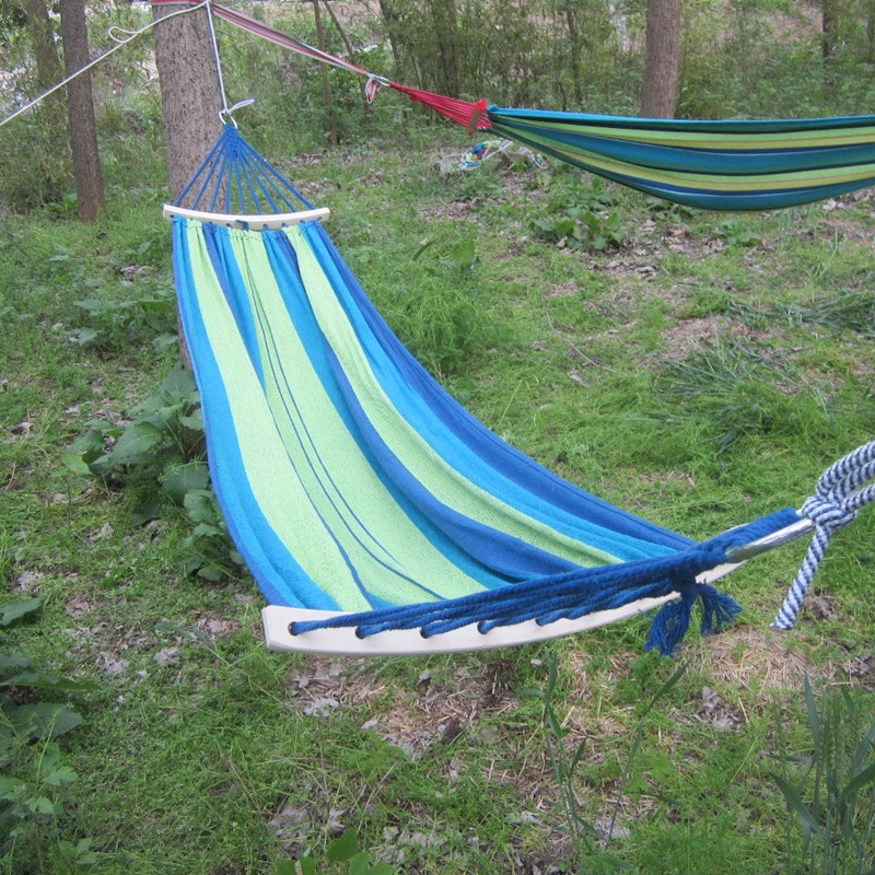 Outdoor hammock bent stick rollover single dorm outdoor folding hammock hammocks swings thick stick