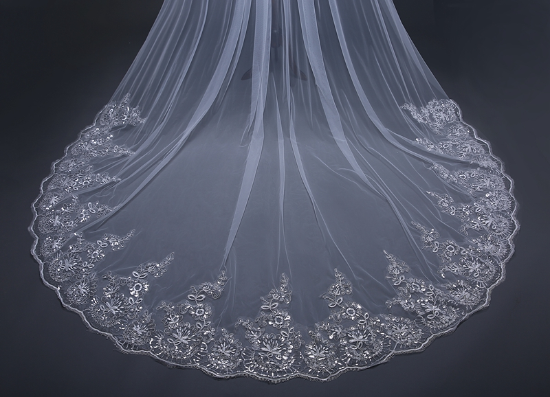 Aliexpress buy new arrival meter wedding veil white ivory