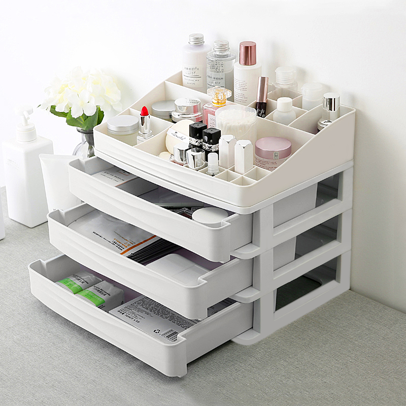 Plastic Cosmetic Drawer Makeup Organizer Jewelry Container ...