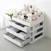 Plastic Cosmetic Drawer Makeup Organizer Jewelry Container Storage Box DIY Multi-layer Nail Casket Holder Bathroom Desktop Case