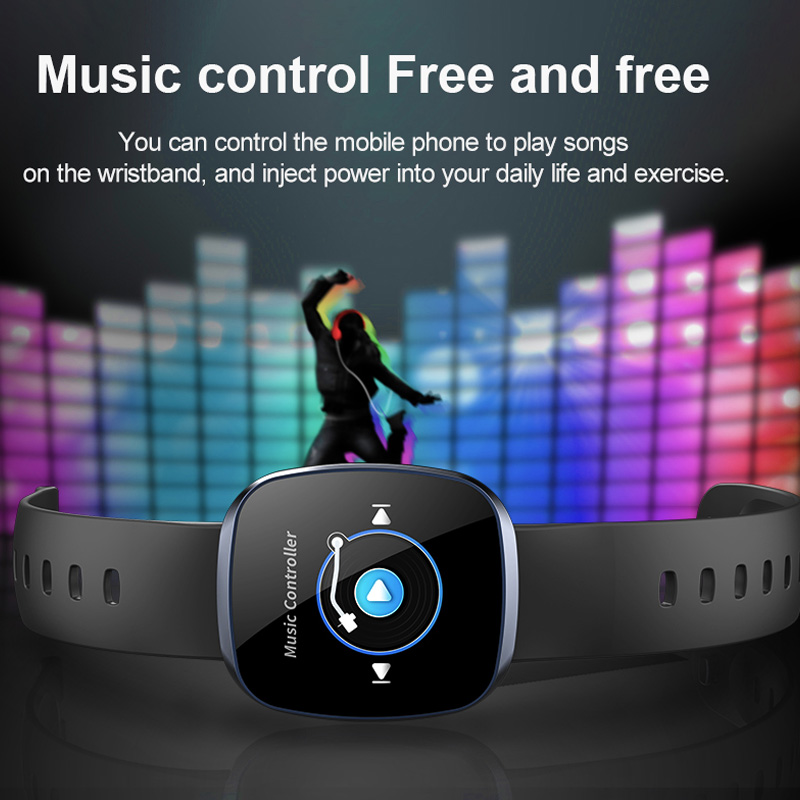 Image 5 - Fitness Tracker Smart Watch Sleep Blood Pressure Heart Rate Monitor Music Control Waterproof Sport Wrist Watch For IOS Android-in Smart Watches from Consumer Electronics