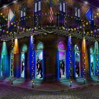 mardi gras city street light road backdrops High quality Computer print party photo studio background