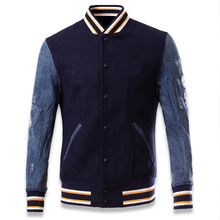 Fashion Slim Fit Warm Streetwear Mens Jeans Cotton Patchwork Jacket Overcoats Super Quality Men 's Biker Jackets Imported C016