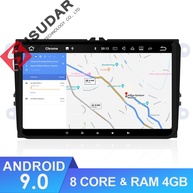 Isudar Car Multimedia Player GPS Android 9 For VW/Golf/Tiguan/Skoda/Fabia/Rapid/Seat/Leon 8 Core RAM 4GB DSP Auto Radio 1 Din FM