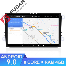 Isudar Car Multimedia Player GPS Android 9 Per VW/Golf/Tiguan/Skoda/Fabia/Rapid/ sedile/Leon 8 Core RAM 4 GB DSP Radio Auto 1 Din FM