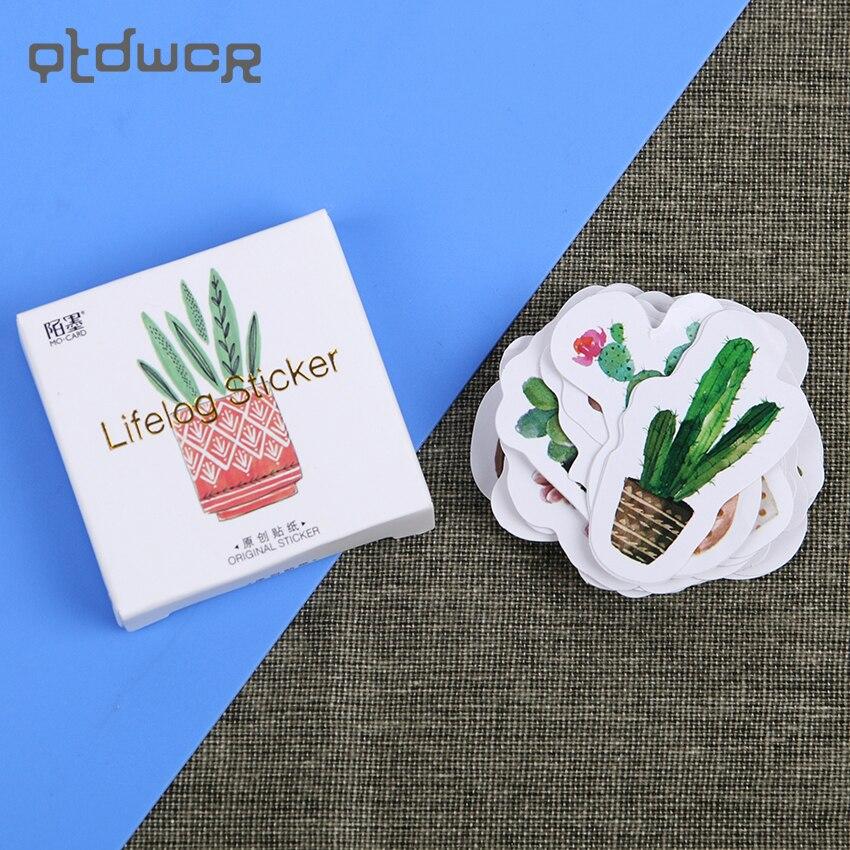 135PCS/3sets Cactus Mini Paper Sticker Decoration DIY Album Diary Scrapbooking Label Sticker Kawaii Stationery