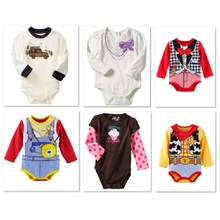 Hooyi Long Sleeve Baby Boys clothes bebe Girls Bodysuits HOT SALE 100% cotton newborn jumpsuits infant one-piece clothing