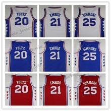 La Maxpa 20  Markelle 21  Joel Embiid Jerseys Blue 25 Ben Simmons High  Quality Mens Embroidery fan Basketball Jersey shirt 5d0905a78