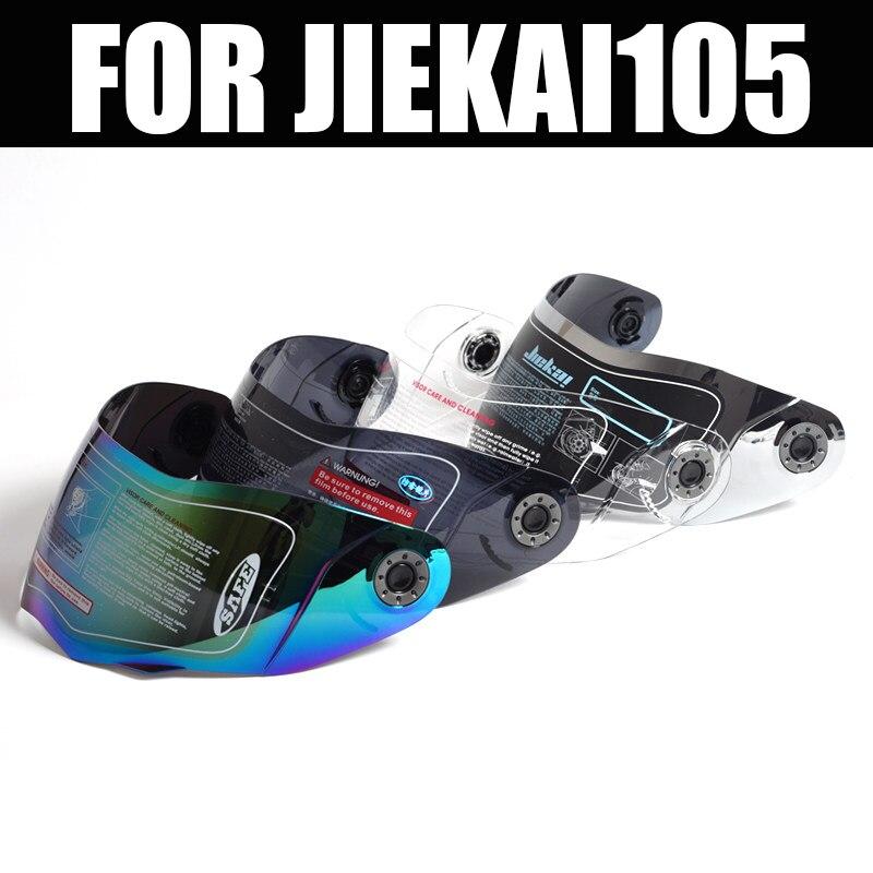 JIEKAI-105 Casque casque intégral lentilles Moto Flip up Casque Objectif Visor NOIR/TRANSPARENT/ARGENT/MULTICOLORE
