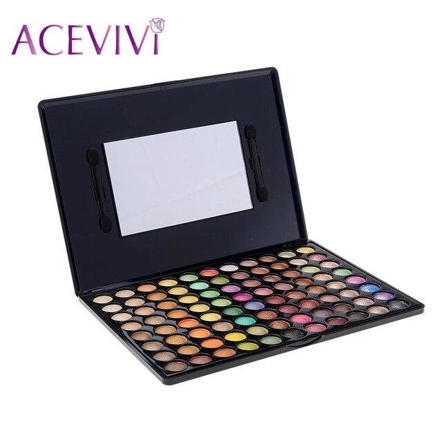 Acevivi nuevo profesional 88 colores de maquillaje de sombra de ojos shimmer mate paleta sombra de ojos maquillaje paleta de color amarillo