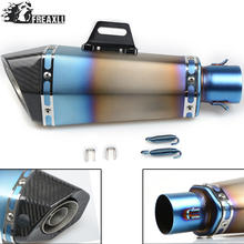 36-51MM Universal Motorcycle Exhaust Pipe muffler Dirt Bike With DB Killer For Honda shadow 600 Suzuki DRZ 400 CB1000 R