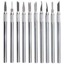 10 Pcs Wax Vleesmes Kit Sculptuur Blades Wax Aardewerk Klei Sculpting Carving Modeling Tool Sieraden Gereedschap