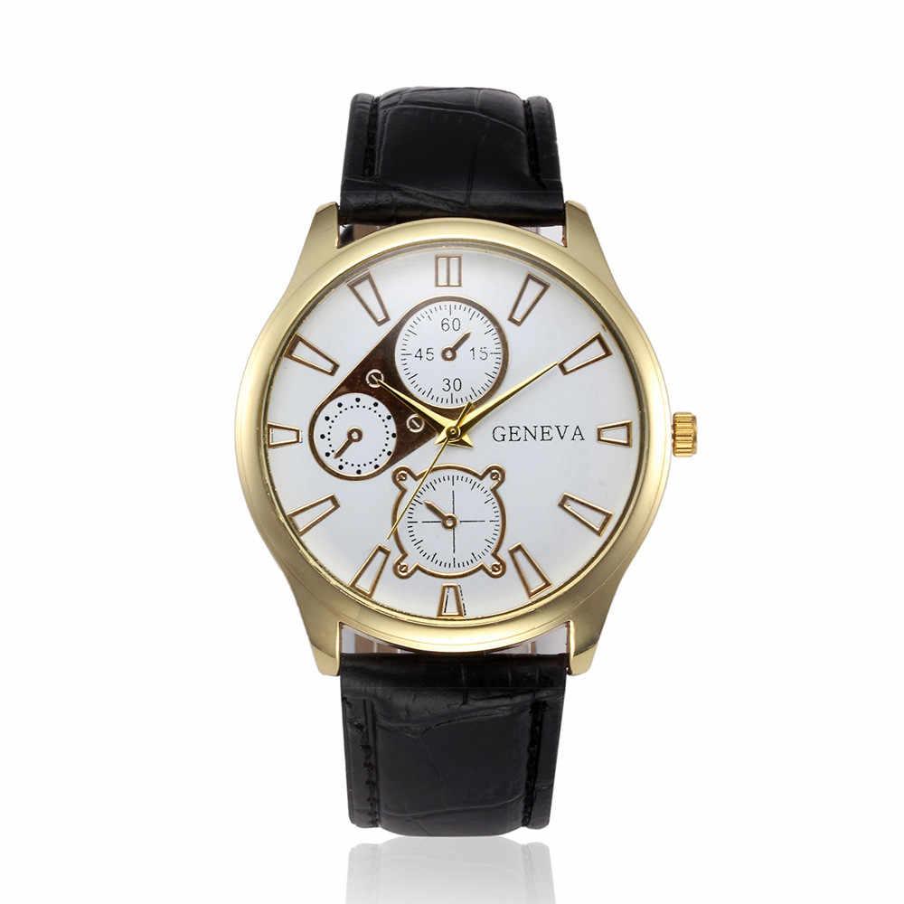2019 relogio masculino רטרו עיצוב רצועת עור שעונים גברים סגסוגת קוורץ שעוני יד reloj hombre saat אופנה עסקים שעונים