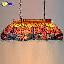 Multicolour Glass Pendant Lamp Restaurant Suspension Lamp Modern Tiffany Bar Lamp Dragonfly Dining Room Project Lights
