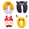 Anime U Pillow Kawaii Gudetama Pikachu Totoro Stitch Minions Chopper Nano Particle Comfort Neck Travel Rest Cushion