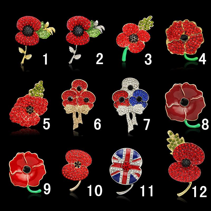 Promotion brooches fashion royal british legion resin brooch promotion brooches fashion royal british legion resin brooch diamante poppy flower drop shipping vestido de noiva broche in brooches from jewelry mightylinksfo