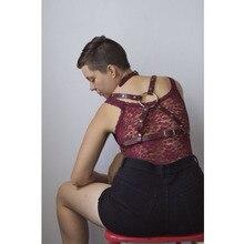 Жгут женские сексуальные кожаные ремни ремень Мода панк крест тела жгут Регулируемый Воротник Талия и плечи для