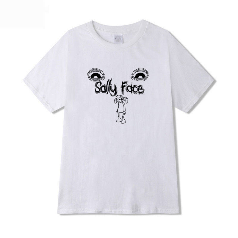 Sally Face T-shirt Men Short Sleeve Women Summer t shirts Fashion Print Sally Face Casual Top Tees Cosplay Costume