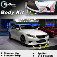For TOYOTA Reiz Mark X MarkX Bumper Lip Lips / Top Gear Shop Front Spoiler For Car Tuning / TOPGEAR Body Kit + Strip Skirt