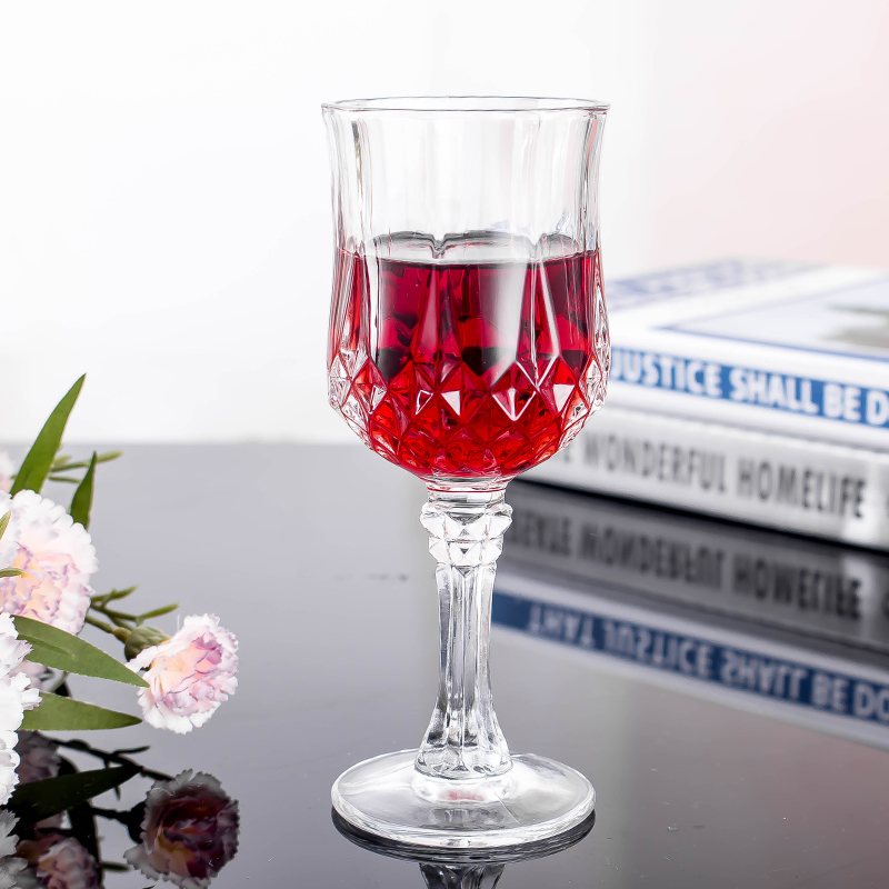Créatif diamant en verre gobelet Maison petit champagne vin cocktail tasse à vin rouge 6 pièces paquet