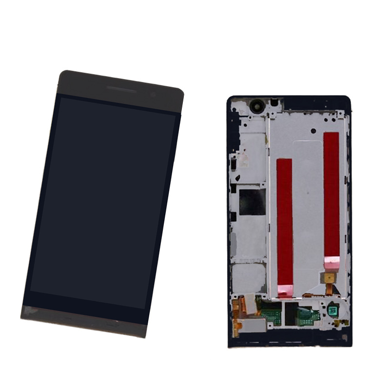 100% Original For Huawei Ascend P6 Black Full LCD Display Panel Screen Monitor + Touch Screen Digitizer Glass Sensor Lens Assemb replacement original touch screen lcd display assembly framefor huawei ascend p7 freeshipping