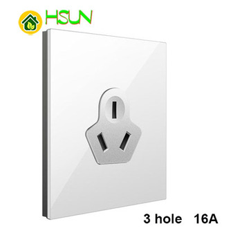 86 Type White Tempered glass Switch 1 2 3 4 gang 1 2 way Lizard Point Switch Comuter TV Telephone Socket Household Wall Switch 24