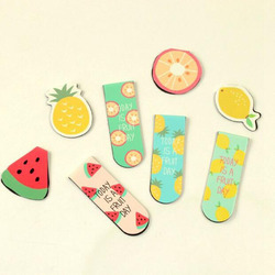 kawaii Cute Fruit Ice Cream Magnetic Bookmarks Books Marker Of Page Stationery School Office Supply Student Rewarding Prize