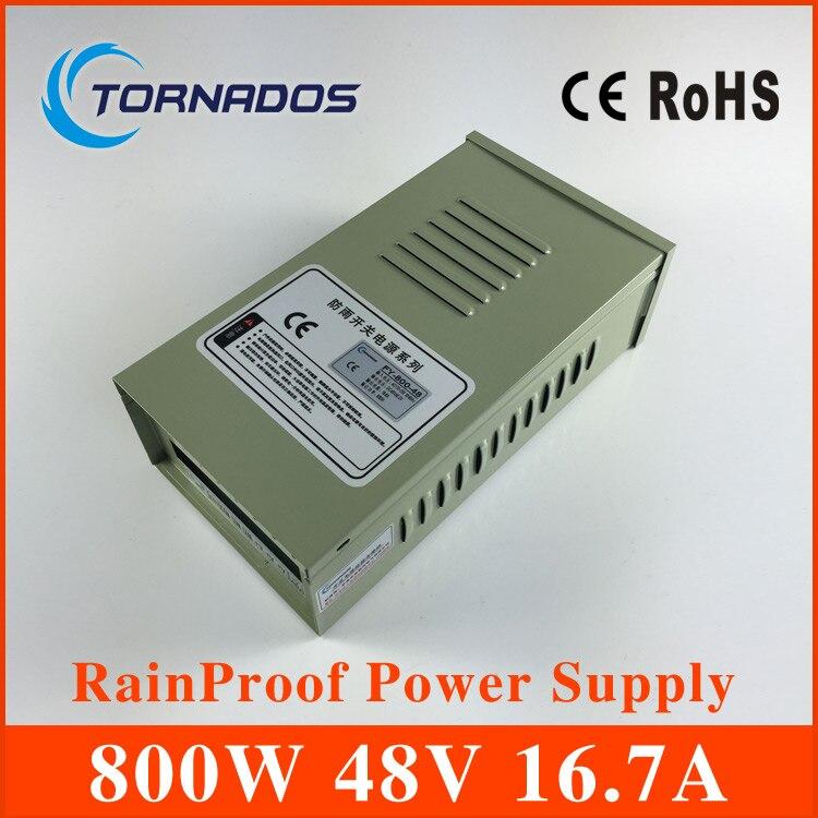 220 V entrée 48 V 800 W alimentation extérieure étanche à la pluie universelle régulée alimentation à découpage AC-DC SMPS FY-800-48