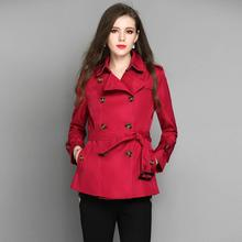 Mujeres chaqueta abrigos ropa elegante Otoño Invierno estilo británico mujer  windbreaker primavera otoño plumero caqui rojo 58e91b12dea9
