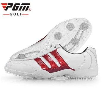 PGM Zapatos De Golf Zapatos De Las Mujeres De Los Hombres Golfschuhe De Cuero A Prueba De Agua Zapatos De Golf Para Hombre Chaussure Spiker Golfschoenen