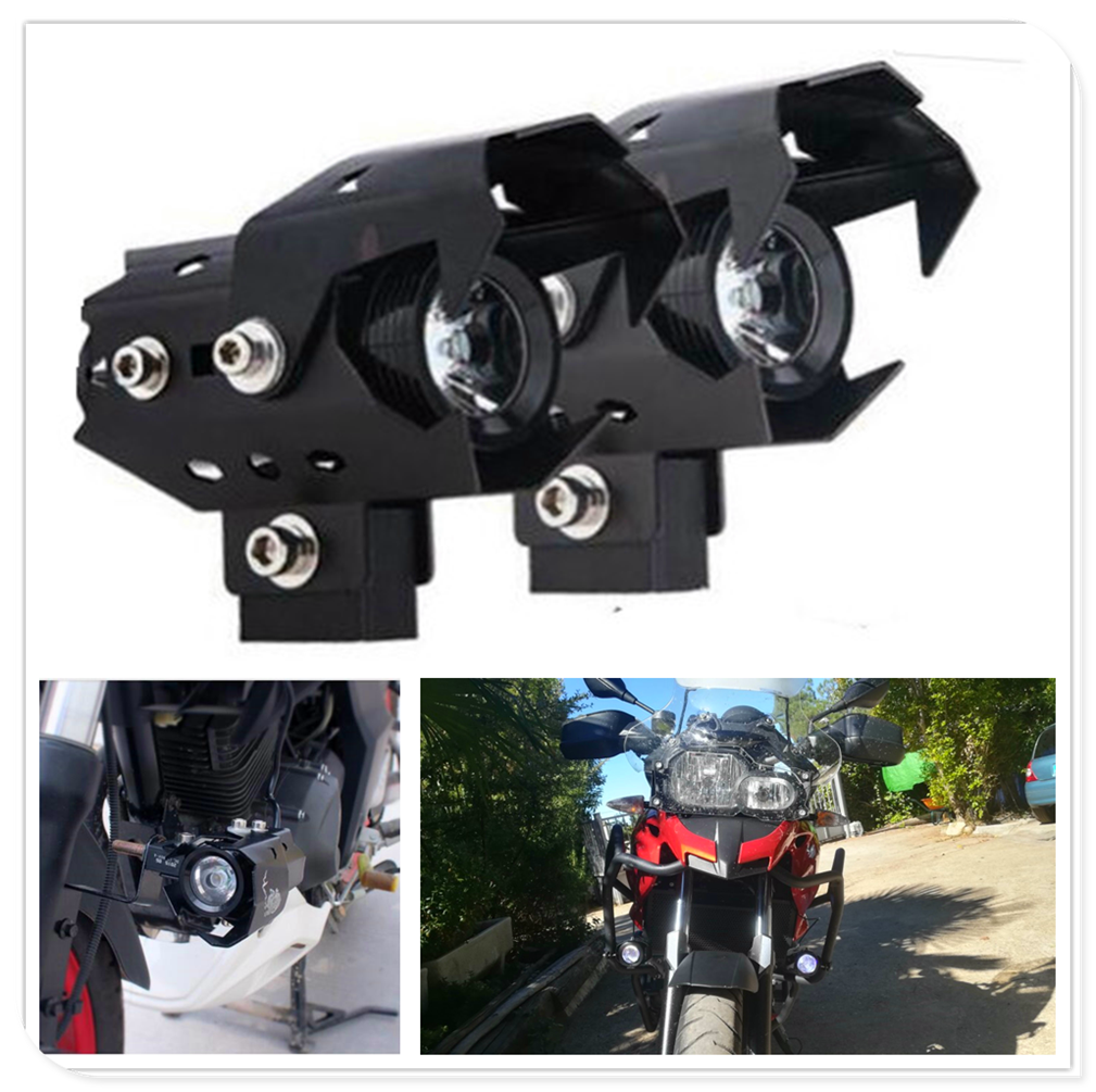 Motorcycle off-road motorbike <font><b>Headlight</b></font> <font><b>LED</b></font> Fog Lamp Lights Spotlight head light for <font><b>YAMAHA</b></font> YZF <font><b>R1</b></font> Aprilia CAPANORD 1200 Rally image