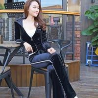 South Korea Silk Velvet Suit Female Fashion New Korean Version Of The Spring And Autumn Leisure