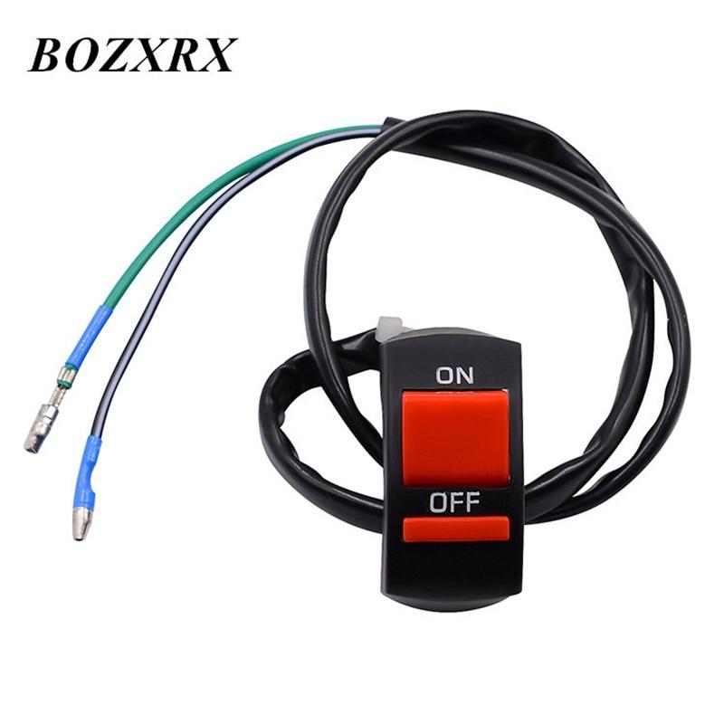 BOZXRX 7/8 22mm manillar Control de faros de luz antiniebla interruptor para Faro de motocicleta en/botón interruptor de luz moto reparación Accesorios