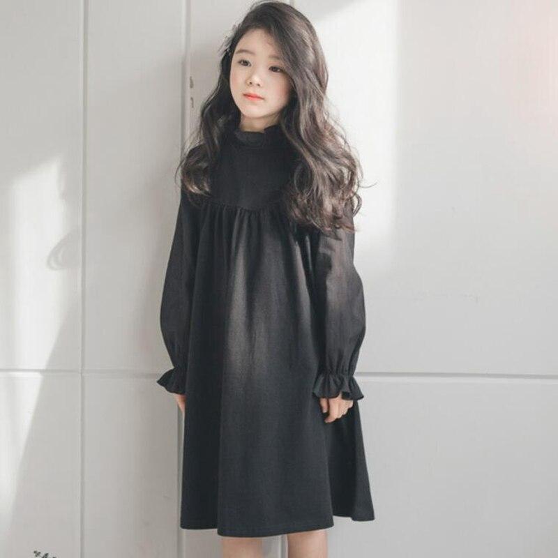 Black Girl Clothing: 2018 Black Spring Autumn Teenage Girl Dress Baby Toddler