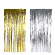 Backdrop Glitter-Curtain Wall-Decoration Foil-Fringe Photo-Booth Shimmer Wedding-Party