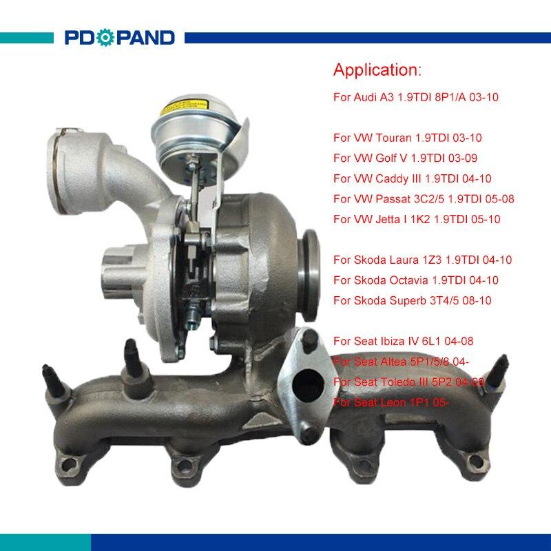 Vw Passat V6 Supercharger Kit: Engine Turbo Charger Kit BV39 Turbocharger For VW Touran